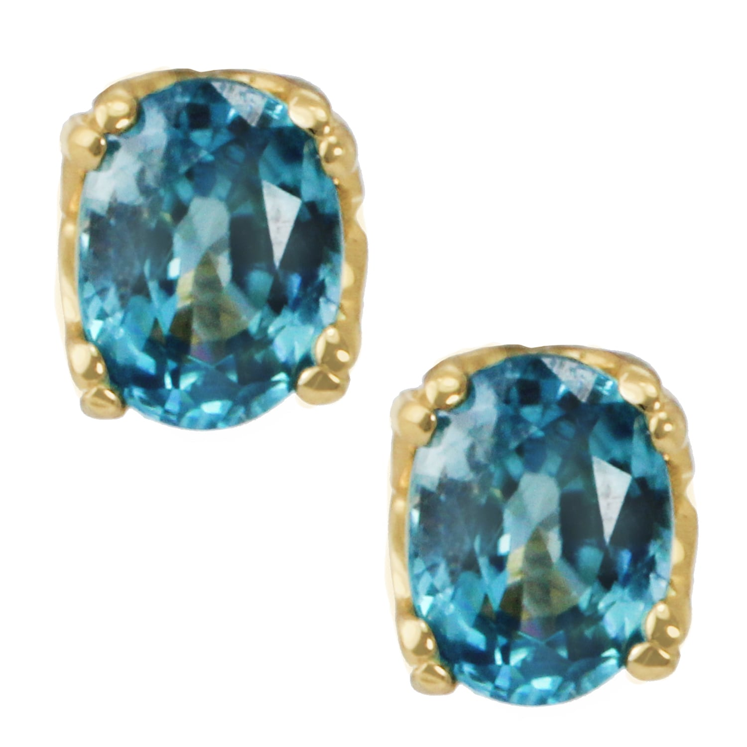1847948f1 Shop One-of-a-kind Michael Valitutti 14K Yellow Gold Morganite, Blue Zircon  or Green Tourmaline Stud Earrings - On Sale - Free Shipping Today -  Overstock ...