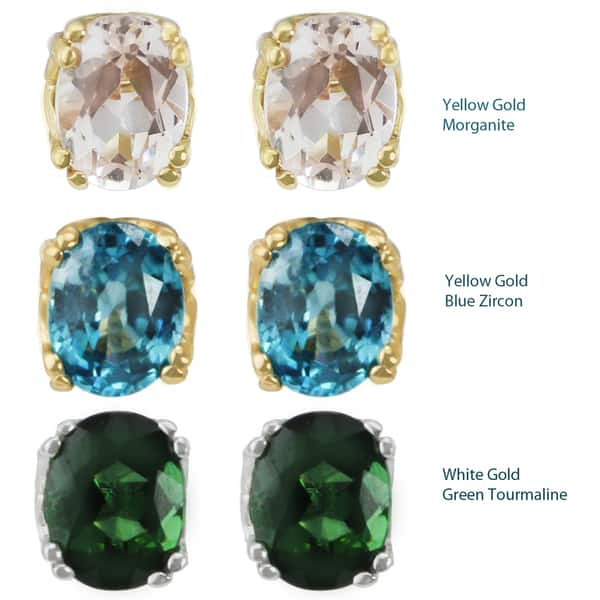 01489244e Shop One-of-a-kind Michael Valitutti 14K Yellow Gold Morganite, Blue ...