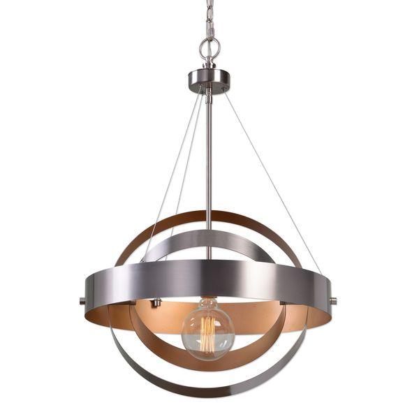 Uttermost Anello 1 Light Brushed Nickel Pendant