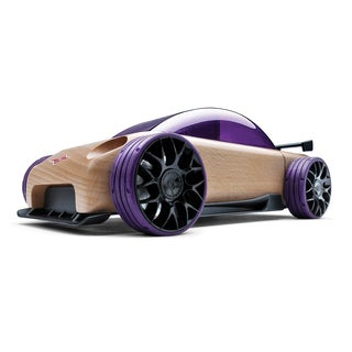 Automoblox S9-R Multicolor Wood Sport Sedan Model