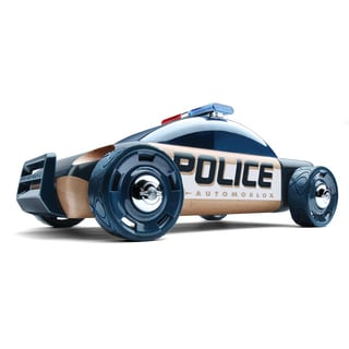 Automoblox S9 Beech Wood Police Car Figurine Kit