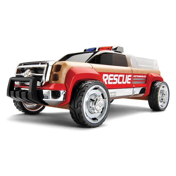 Automoblox T900 Multicolor Beechwood Rescue Truck