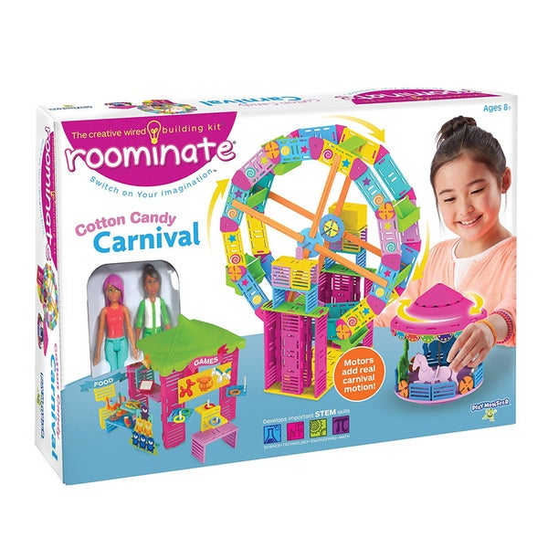 Roominate Cotton Candy Carnival STEM Wired Building Kit