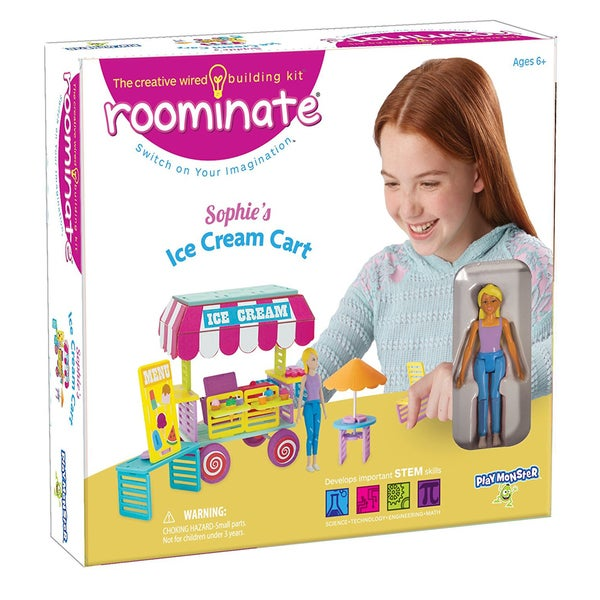 Roominate Sophie's Ice Cream Cart Wired Building Kit