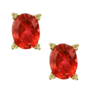 One-of-a-kind Michael Valitutti 14K Yellow Gold Fire Citrine Stud Earrings