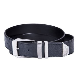 Versace Collection Black Pebbled Leather Belt (Size XXL)