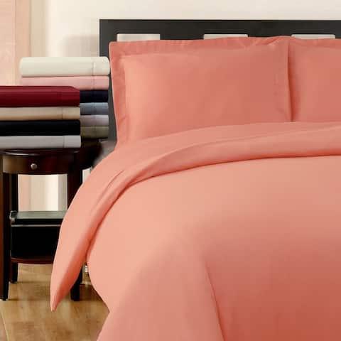 Miranda Haus 300 Thread Count Cotton Wrinkle Resistant Duvet Cover Set