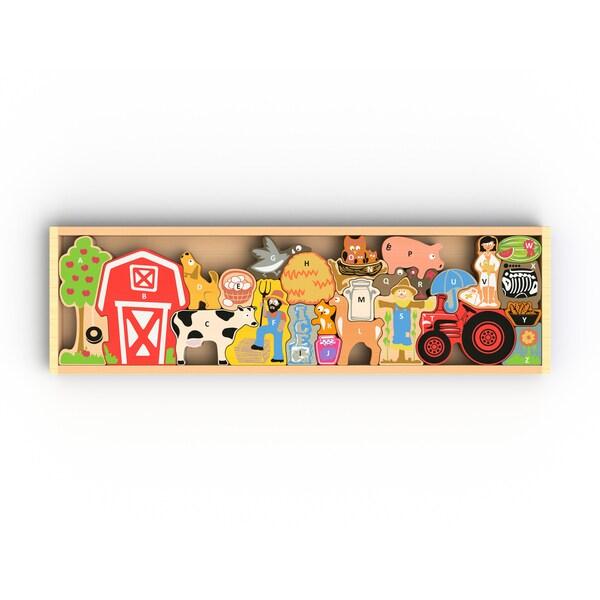 BeginAgain Toys A to Z Farm Puzzle