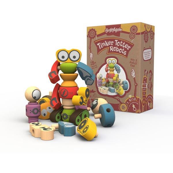 Begin Again Toys Tinker Totter Robots Set