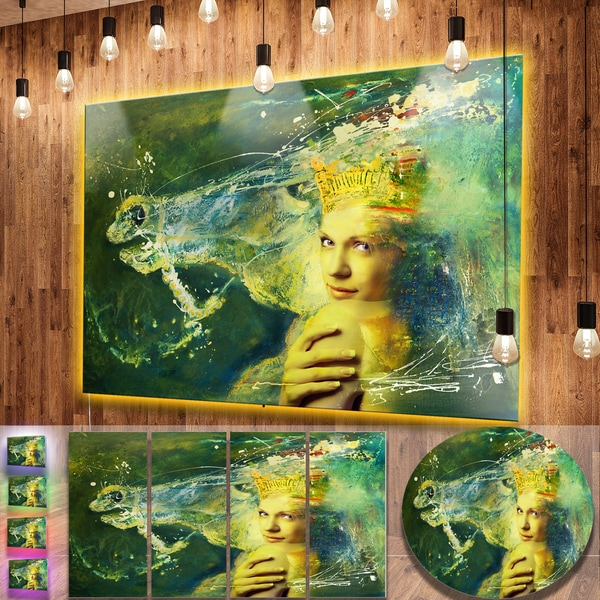 Designart \'Thoroughbred Horse and Woman\' Large Animal Metal Wall Art ...