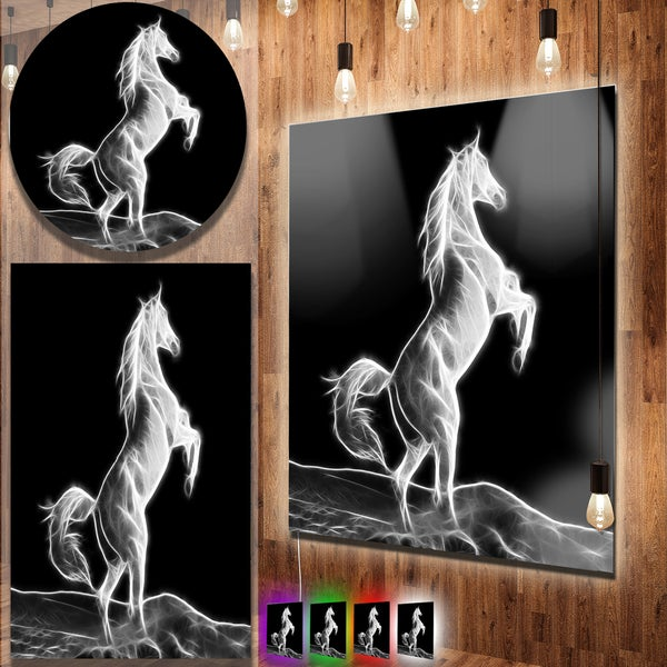 Shop Designart Large White Horse Sculpture Extra Large Animal