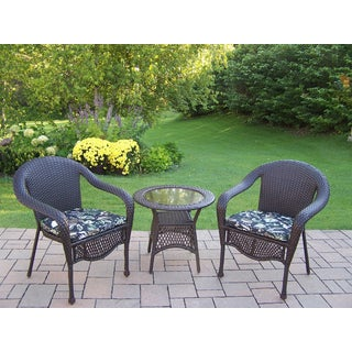 Merit Resin Wicker Chairs and Side Table Set