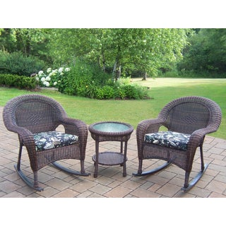 Calabasas 3-piece Wicker Rocker Set