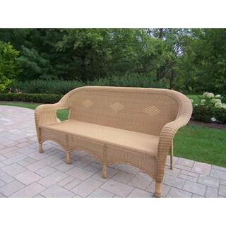 Calabasas Outdoor Resin Wicker 3-Person Sofa