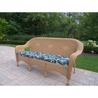Calabasas Resin Wicker 3 Seated Sofa with Cushion