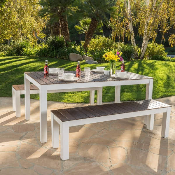 100 outdoor table and bench set signature design by ashley