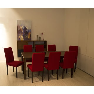 Shino Crimson 9-piece Dining Set