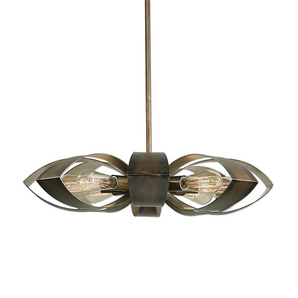 Uttermost daisy 8 light industrial pendant brown free shipping uttermost daisy 8 light industrial pendant brown mozeypictures Image collections