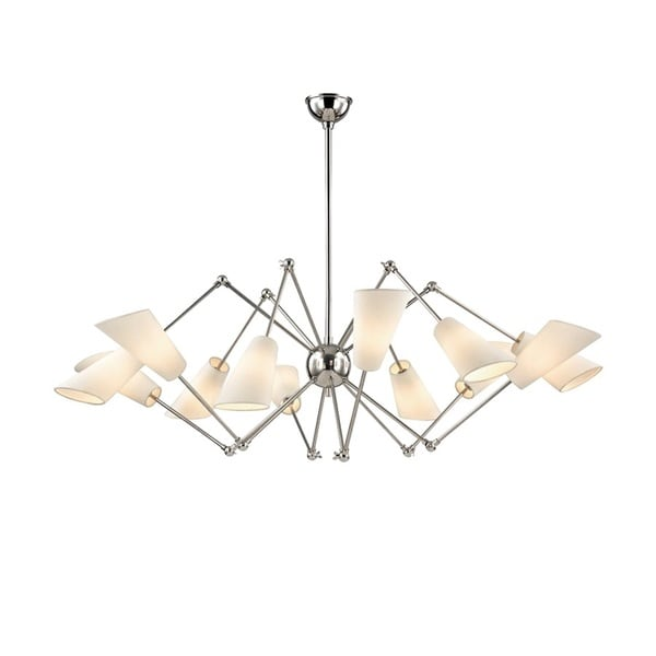 Hudson Valley Buckingham 12 Light Polished Nickel Chandelier