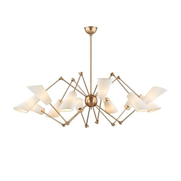 Hudson Valley Buckingham 12 Light Aged Brass Chandelier