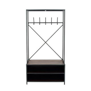 Benzara Wood/Metal 71-inch H x 36-inch W Clothes Rack