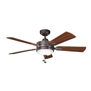 Kichler Lighting Logan Collection 52-inch Oil Brushed Bronze Ceiling Fan w/Light