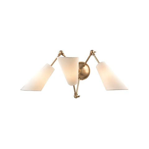 Hudson Valley Buckingham 3 Light Aged Brass Wall Sconce
