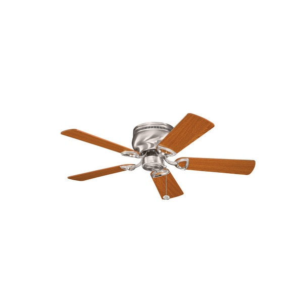 Kichler Lighting Stratmoor Collection 42-inch Brushed Stainless Steel Ceiling Fan