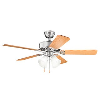Kichler Lighting Renew Premier Collection 50-inch Brushed Stainless Steel Ceiling Fan w/Light