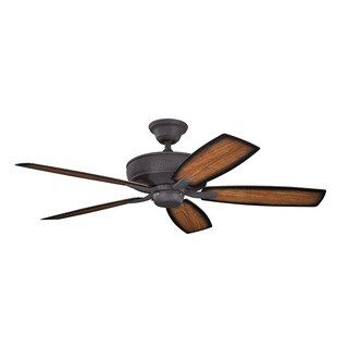 Kichler Lighting Monarch II Patio Collection 52-inch Distressed Black Ceiling Fan