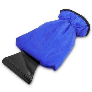 Zone Tech Blue Waterproof Ice Scraper Vehicle Mitt Car Windshield Snow Remover Glove
