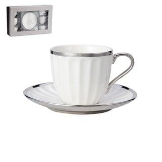 12-Piece White Porcelain Tea Cup and Saucer Set