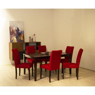 Shino Crimson 7-piece Dining Set