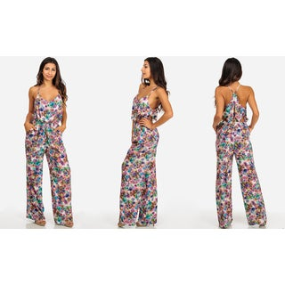 Women's Junior-size Spaghetti-strap Jumpsuit