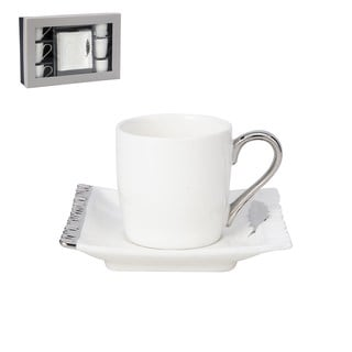 White Porcelain Tea Cup and Saucer 12-piece Set