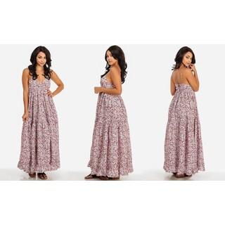 Lani Women's Floral-print Cotton Maxi Dress