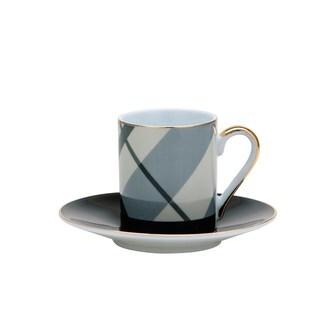 Multicolored Porcelain 12-piece Tea/Coffee Cup and Saucer Set