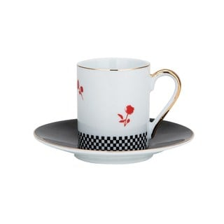 White Porcelain 12-piece Tea/Coffee Cup and Saucer Set