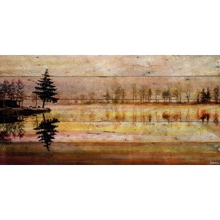 Parvez Taj - 'Chanannes' Painting Print on Reclaimed Wood