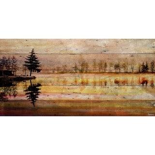 Handmade Parvez Taj - Chanannes Print on Reclaimed Wood