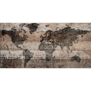 Parvez Taj - 'Lost in the World' Painting Print on Reclaimed Wood