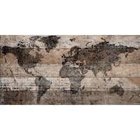 Parvez Taj - 'Lost in the World' Painting Print on Reclaimed Wood