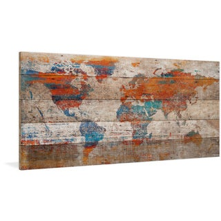 Parvez Taj - 'Warm World' Painting Print on Reclaimed Wood
