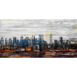 Parvez Taj - 'New York Colors' Painting Print on Reclaimed Wood (4 options available)