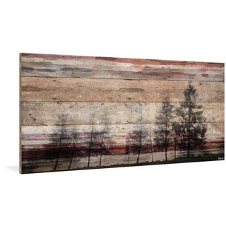 Parvez Taj - 'Forest of Firs' Painting Print on Reclaimed Wood