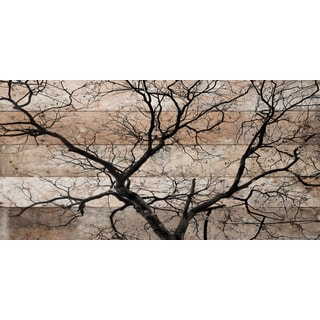 Parvez Taj - 'Branching Out' Painting Print on Reclaimed Wood