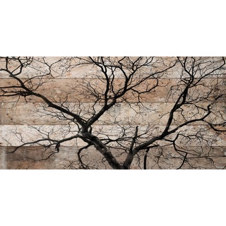 Handmade Parvez Taj - Branching Out Print on Reclaimed Wood