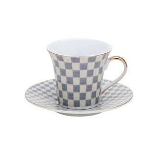 Multicolored Porcelain Tea Coffee Cup and Saucer 12-piece Set
