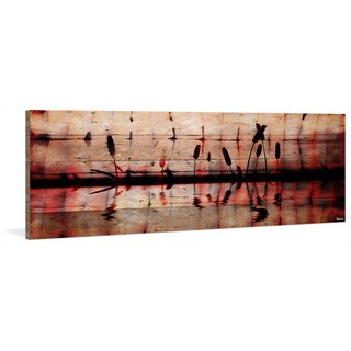 Parvez Taj - 'Panoramic Reflection' Painting Print on Reclaimed Wood