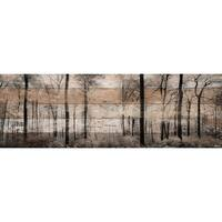 Parvez Taj - 'Panoramic Forest' Painting Print on Reclaimed Wood